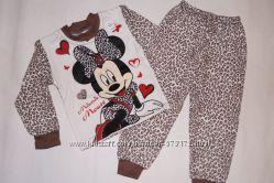 Теплые пижамы для девочек 1-4 года