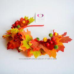 Обручи, веночки, короны, браслеты для Осеннего бала
