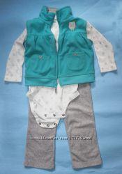 Комплект Carters картерс Совушка с жилеткой на девочку 18-24мес.
