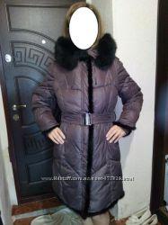зимний пуховик с натуральным мехом норка