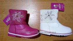 Распродажа Утепленные демисезонные ботинки для девочек 21-23р