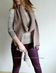 Теплый трехметровый шарф шерсть фирменный