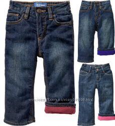 Утепленные джинсики на флисе OLD NAVY, р. 3Т-5Т - мальчикам и девочкам.