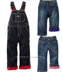 Теплые джинсики на флисе OLD NAVY, р. 2Т-4Т - мальчикам и девочкам.
