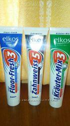 Немецкие зубные пасты Elkos 125 мл и щетки