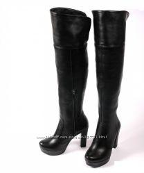 кожаные сапоги ботфорты осень 40р.