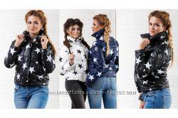 Стильная женская укороченная куртка Звезда