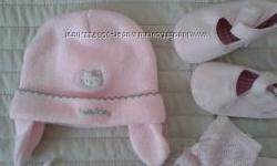 Шапочка Hello Kitty для новорожденной