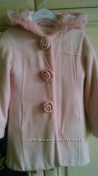 Демисезонное пальто, шерсть, 4-6 лет