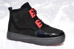 Стильные черные ботинки кеды сникерсы р. 36-41