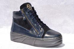 Синие высокие кеды в стиле Giuseppe Zanotti р 36-41