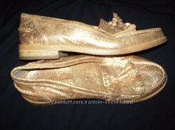 кожаные  туфли  37  размера - 24. 5  см