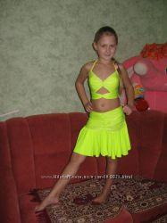 Красивый костюм для бальных танцев юбка и топ на 10-14 л