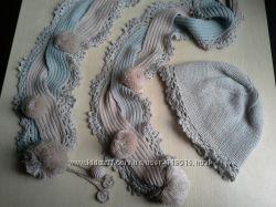 шапочка и шарф для модницы Wojcik