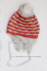 Шапка новая зимняя цвета для девочки и мальчика Флис  42-46 и 44-48 см