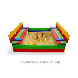 Детская песочница из дерева, песочница для детей Pes-11