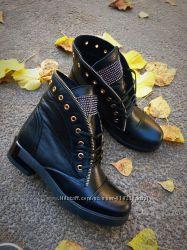 Демисезонные ботинки, кожа