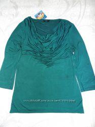 блуза F&F изумрудного цвета