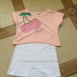 Гарненькі футболочки, майка 4-6р. WOJCIK Next Prenetal H&M