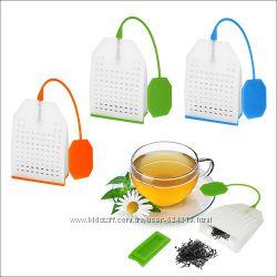 Оригинальные силиконовые заварнички в виде Чайного пакетика