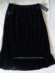 Длинная стрейчевая юбка-годе из бархата. Америка.