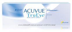 Акции Однодневные Контактные линзы 1 day Acuvue TruEye, Acuvue Moist