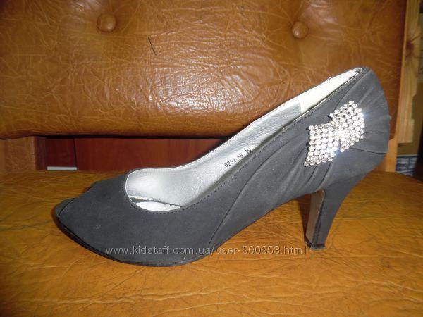 Женские туфли в отличном состоянии 39р 25, 5см