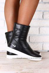 Стильные зимние ботинки кожа и замша 36-40р