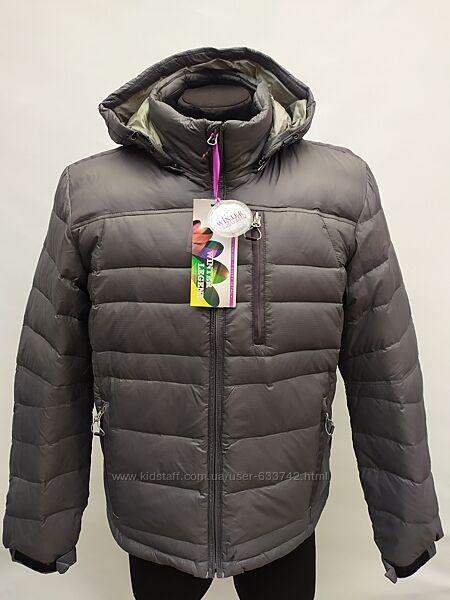 Пуховик мужской молодёжный Winter Legend/лёгкий серый пуховик/куртка зимняя