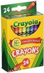 Восковые карандаши Crayola Крайола 24 шт