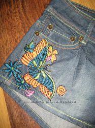 Джинсовые шорты вышивка