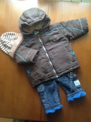 Куртка Topolino еврозима и джинсы на флисе  подарок шапочка