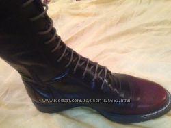 сапоги на шнуровке кожаные