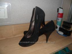 туфли под замш 39р, на узкую ногу