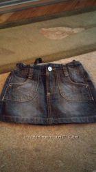 Джинсовая юбочка Zara 104 размер 3-4 года.