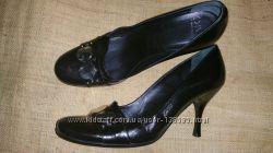 39-26. 5 кожа эксклюзивные туфли от Diva Made in Italy не узкие ширина 8 см