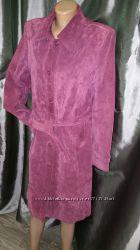 XL Yes or No замша пальто состояние отличное замеры рукав от плеча 67 плечи