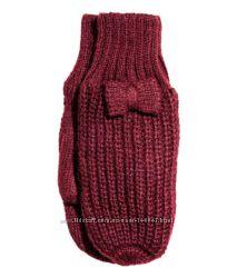 Варежки вязанные с бантиком H&M