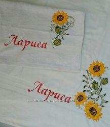 Любая вышивка на полотенцах