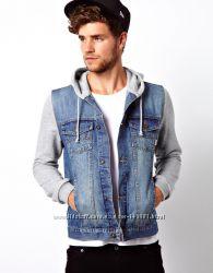 ZARA джинсовый жилет с капюшоном. Оригинал