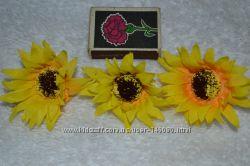 Головки цветов канзаши декор