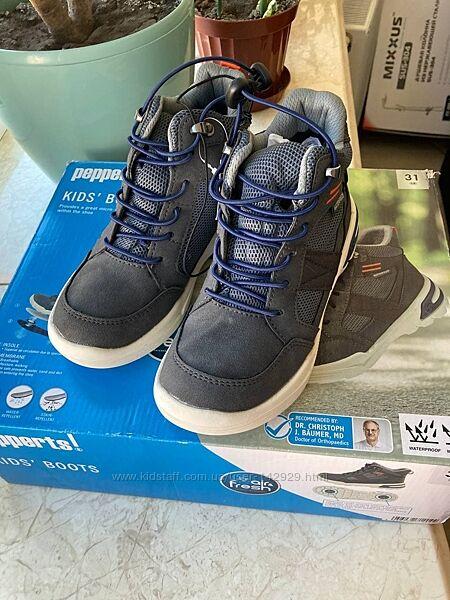 Деми, не промокаемые термо ботинки waterproof на мембране  Pepperts