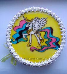 альтернатива мастичним тортам -рисунок желе