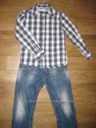 Рубашка  в клеточку INDIGO на рост. 152-158см,  11-12-13 лет