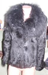 Полушубок шуба кролик   лама