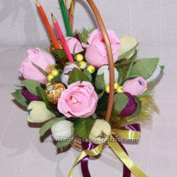 Букет из конфет Нежность роз