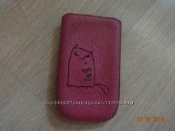 Чехол кожаный для телефона Samsung Galaxy Duos