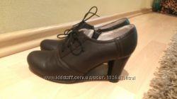 Кожанные ботинки, 38 р, обуты раз