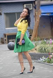 Юбка зелёная