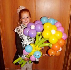 Цветы из шариков  на 1 сентября